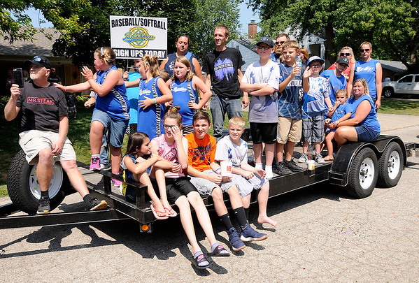 Don Knight   The Herald Bulletin<br /> Parade for Matthew Robinette's 21st birthday on Saturday.