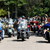 Don Knight | The Herald Bulletin<br /> More than 100 bikers from the group Madison County Biker Died Here ride past Matthew Robinette's home in a parade for his 21st birthday on Saturday.