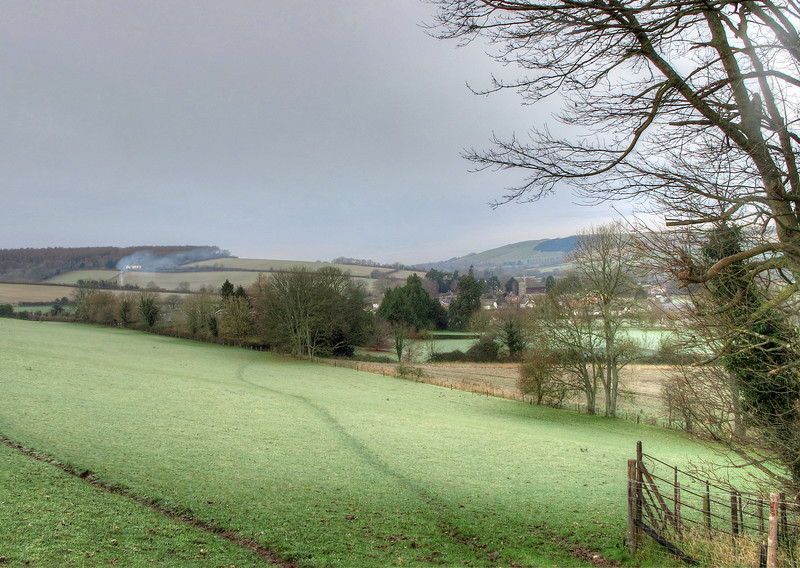 The hillside on the right hand side has the iron age hill fort of Hod Hill at its summit - the ramparts can just be seen on the skyline.