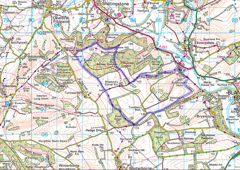 The route actually taken, captured on my mobile phone using Orux Maps.