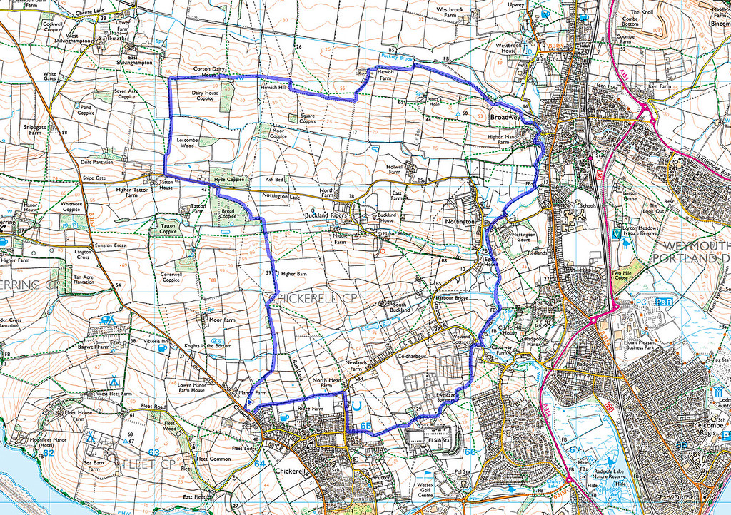 The route actually walked going clockwise.