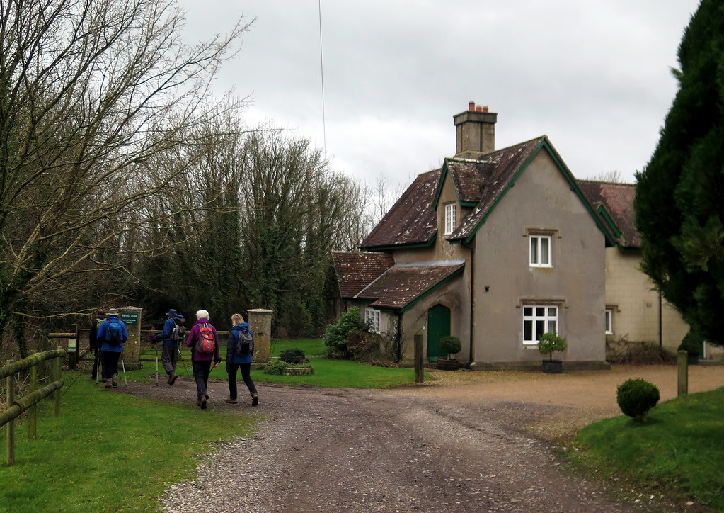 The group passes a house at White Hill.