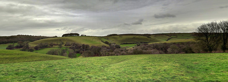 A panorama shot of the beautiful countryside in this area from Farm Wood.