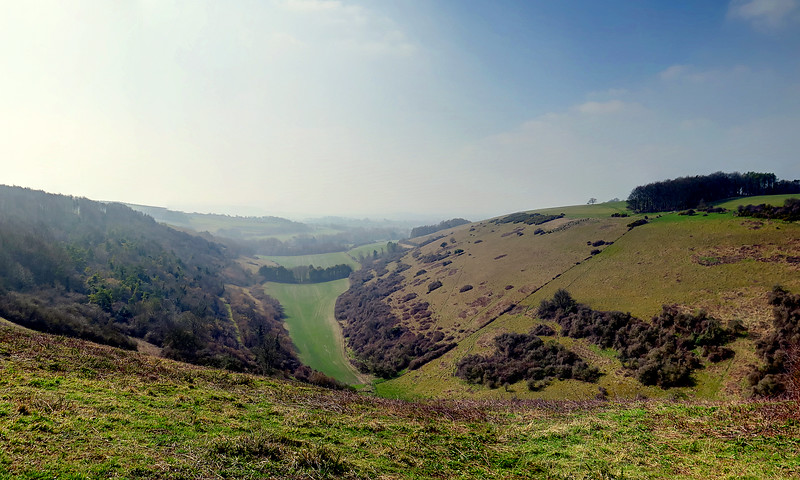 The view from Fontmell Down towards the Southwest.
