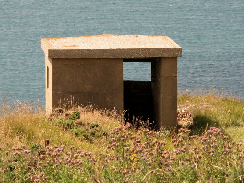 The wartime Flowers Barrow lookout hut.
