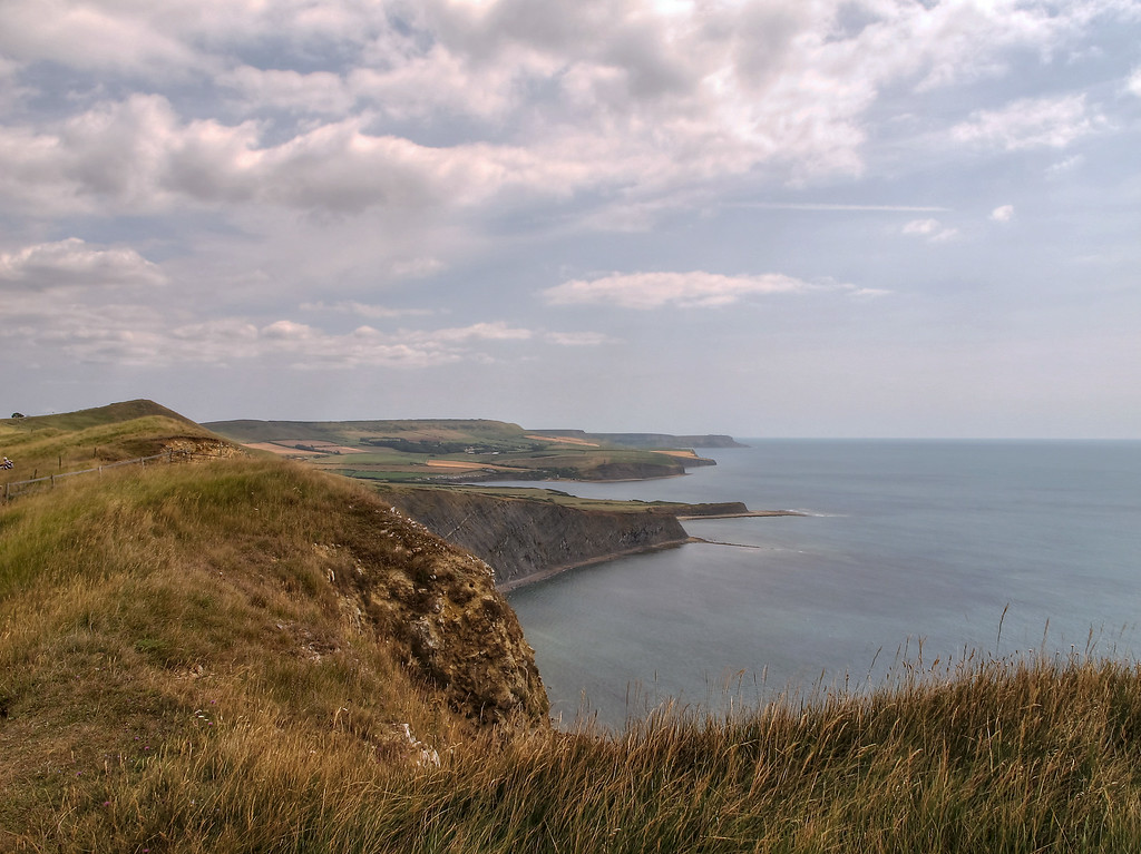 Dorset Headlands from Gad Cliff.