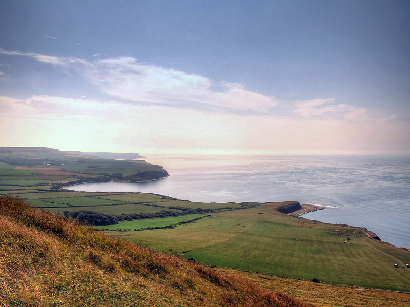 Looking to the East from Gad Cliffs; Kimmeridge Bay with St Aldhelm's head in the distance.