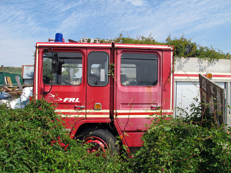 An old ex Flight Refuelling Ltd fire engine at Kimmeridge.
