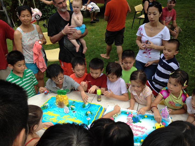 Austin and Fia's birthday party