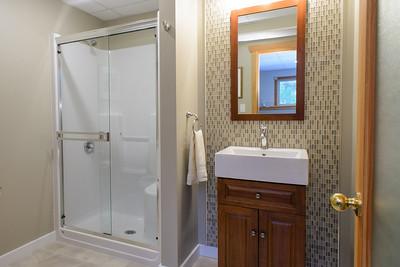 Full bathroom in basement.