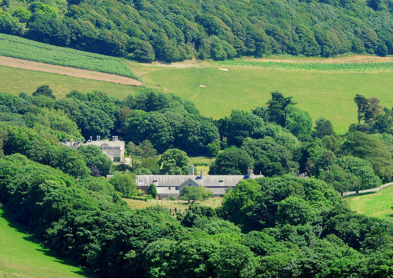 Looking down on Encombe House from Swyre Head.