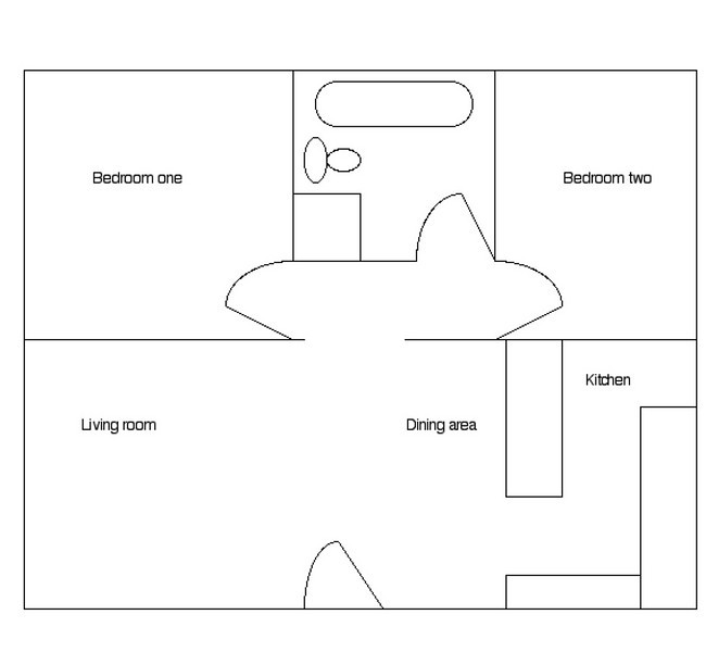 Layout of townhome