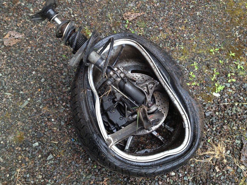 Used to be the left front wheel.