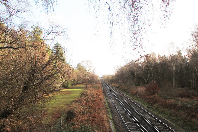 ..... and a far more modern trackway from London towards the West.