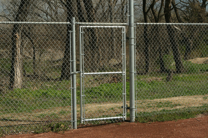 This is an entryway from the outfield to retrieve home run balls from Wellington batters!