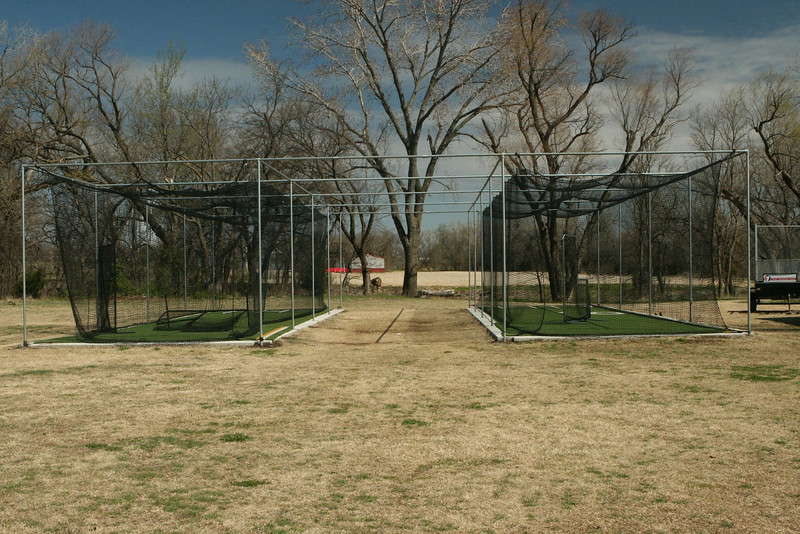 Batting cages, two of them!, just west of the storage facility.