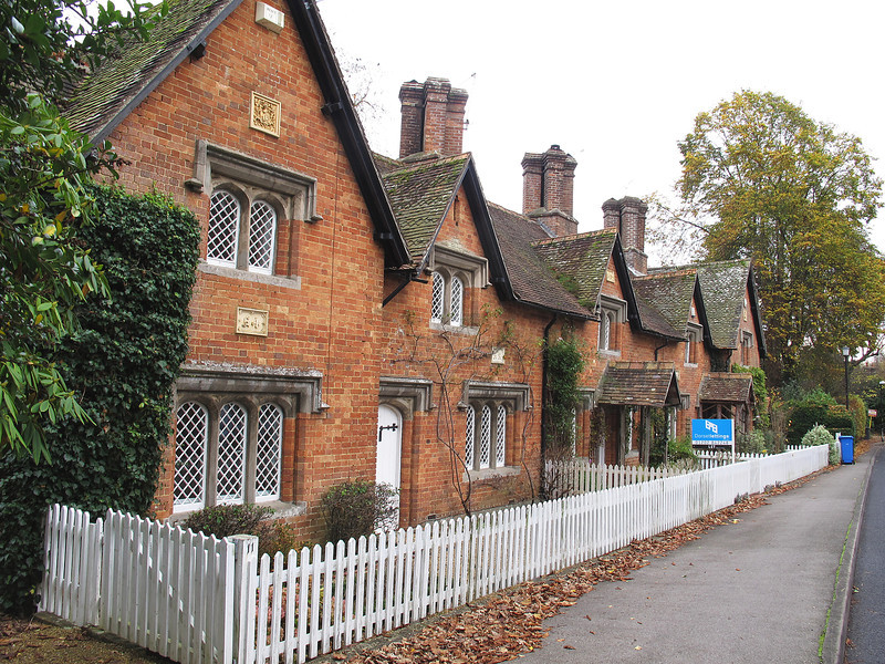 A terrace of cottages at Canford near the school.