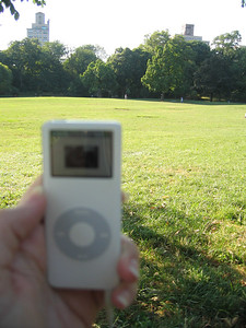 """Play on Playa"" (aka, my ipod nano) enjoying a day in Prospect Park"