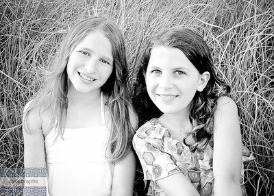 Girls in the Tall, Tall Grass bw-