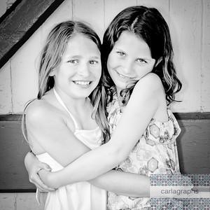 Sister Hug bw-