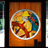 The stained glass window in Skipper's Pub in Northport.  My dad used to love this place.