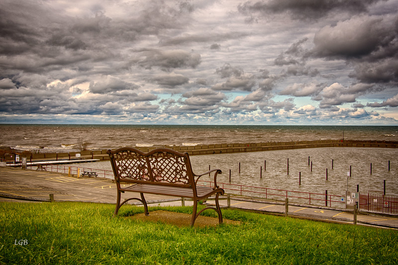 Lake Erie -- always foreboding.  Waiting for winter and lake effect snows.