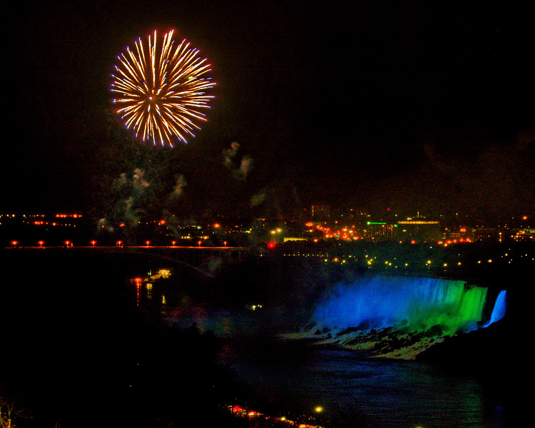Fireworks over American Falls.