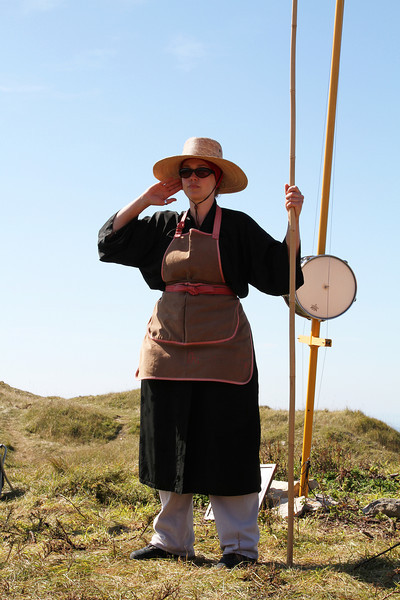 There were several of these ladies around the site to add atmosphere and to keep people quiet.