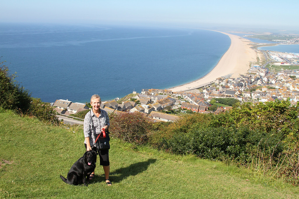The view from Portland along Chesil beach
