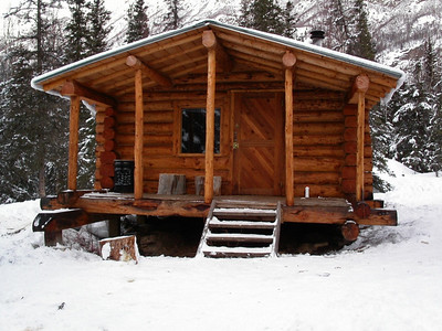 Alaskan Cabin in Winter