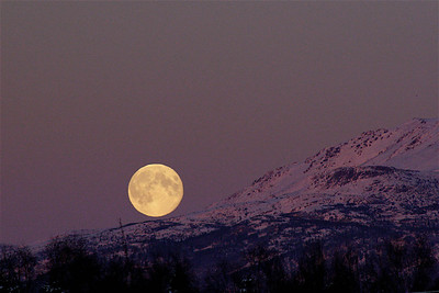 Moon over Eagle River