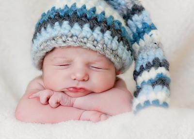 blue hat-