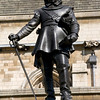 Oliver Cromwell, outside The Houses of Parliament.