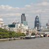 The unmistakeable city skyline - St Paul's Cathedral and the City of London.