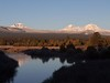 South, Middle & North Sisters from Tumalo Reservoir.
