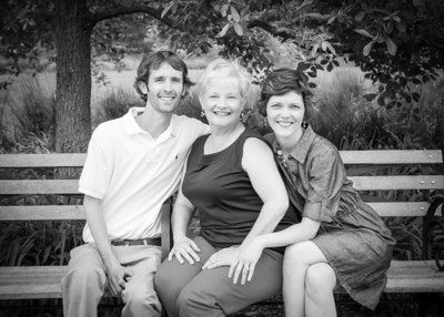 Mom and Her Big Kids bw (1 of 1)