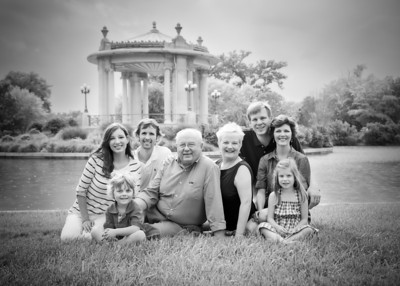 Fam in Front of WAter bw (1 of 1)