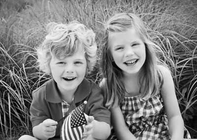 red white and blue kids bw crop (1 of 1)