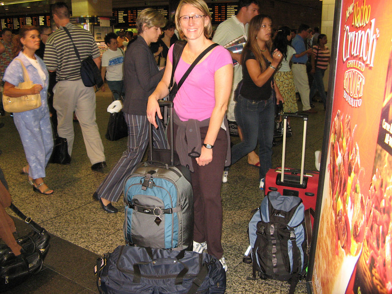 Leaving the US...15 months later I returned. Penn Station NYC