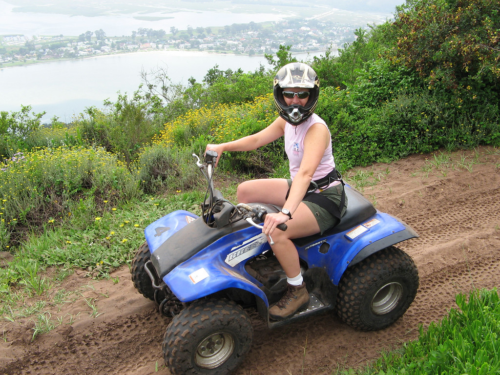 Quad biking in S. Africa...finding my inner hick.