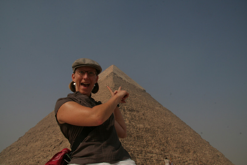 At the pyramids...the oldest site I ever visited.