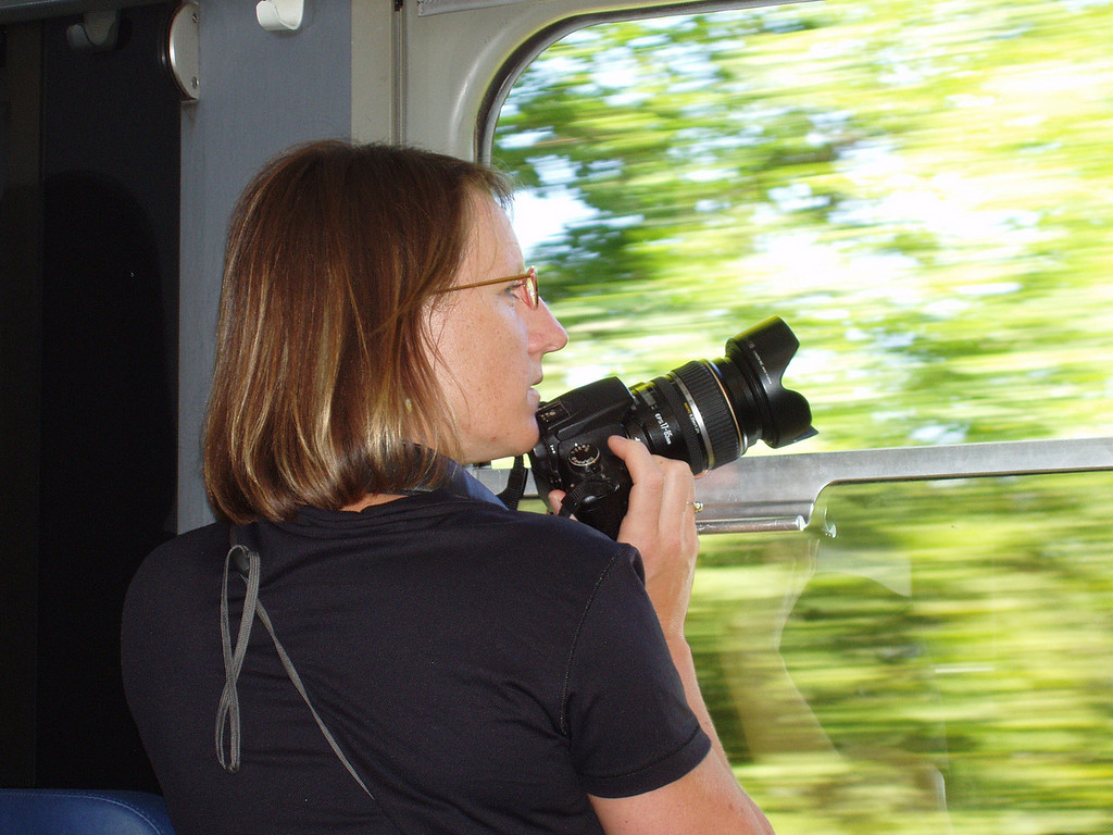 Getting shots from the train in Switzerland