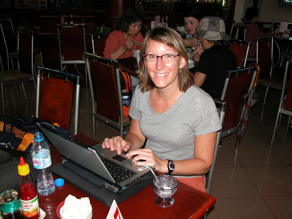 Glued to the keyboard waiting for a flight
