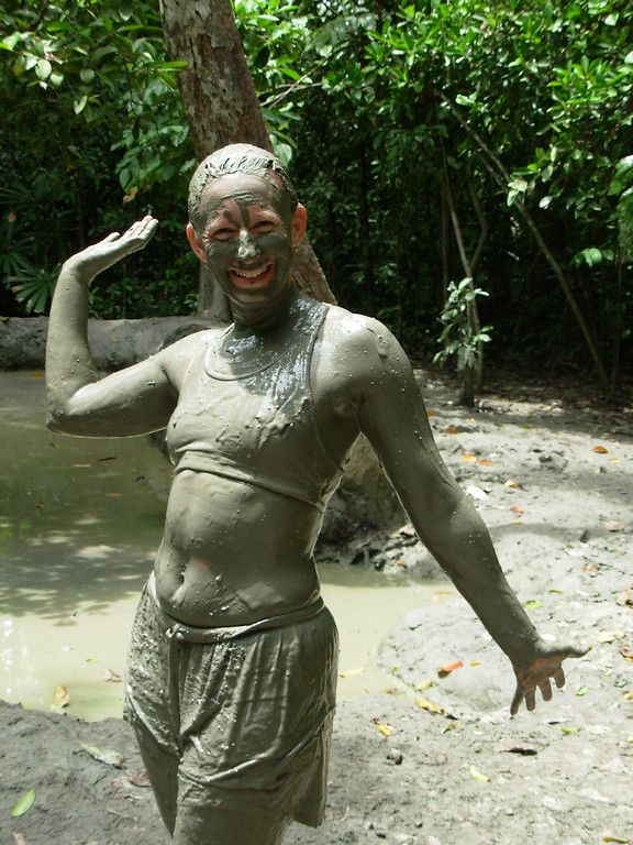 After my dip in the mud volcano in Borneo