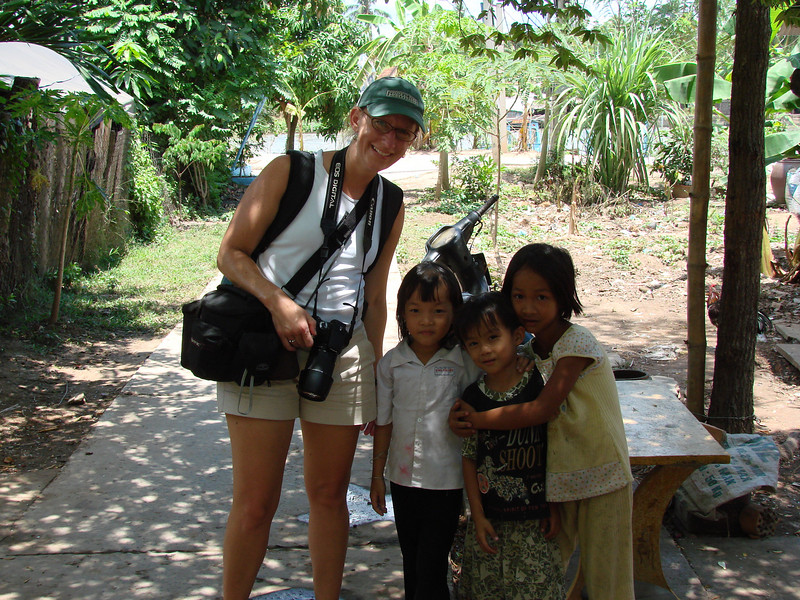 With kids in Vietnam
