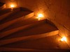 When lit with candles, going up the stairs always gave me the same feeling as I had as a kid on Christmas morning.