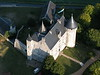 The view of my castle, Chateau de la Motte, from a balloon.
