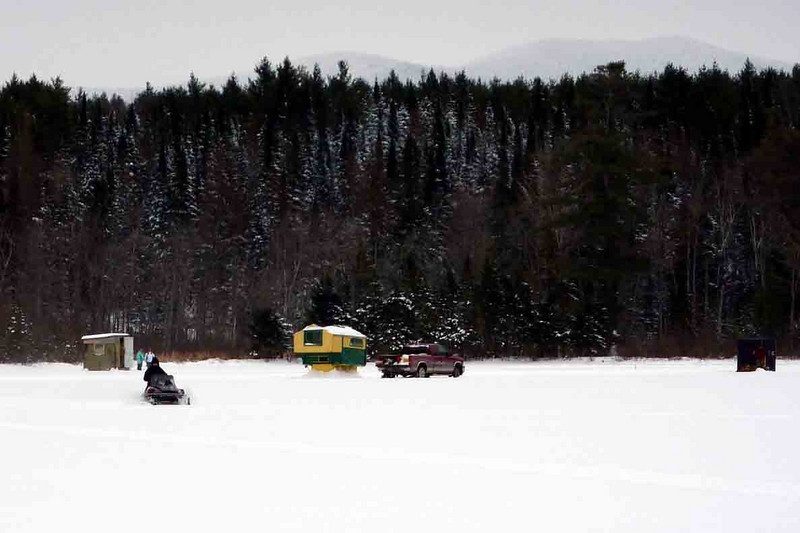 on our drive out from the sk i track we saw these guys ice fishing and walked out to talk with them