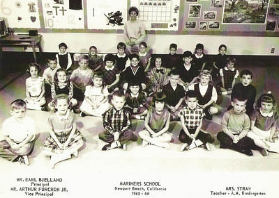 Mrs. Straw's 1965-66 AM kindergarten class