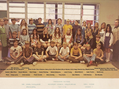 Mrs. Wood's 1971-72 6th grade class